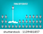 think differently   being...   Shutterstock .eps vector #1139481857