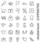 thin line vector icon set  ... | Shutterstock .eps vector #1139500703