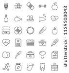 thin line vector icon set   oil ... | Shutterstock .eps vector #1139503043