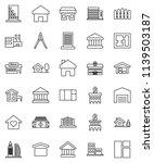 thin line vector icon set  ... | Shutterstock .eps vector #1139503187