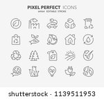 thin line icons set of ecology  ... | Shutterstock .eps vector #1139511953