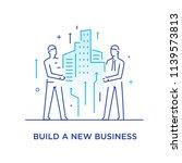businessmen build a city... | Shutterstock .eps vector #1139573813