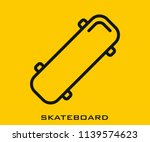 skateboard icon signs | Shutterstock .eps vector #1139574623