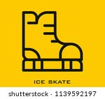 ice skate icon signs | Shutterstock .eps vector #1139592197