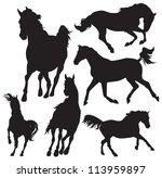 horse vector silhouette | Shutterstock .eps vector #113959897