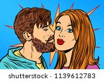 couple man kissing woman. pop... | Shutterstock .eps vector #1139612783