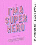 vector hero 3d font trendy... | Shutterstock .eps vector #1139619923