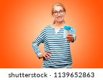 senior beautiful woman with a... | Shutterstock . vector #1139652863