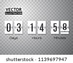 white countdown timer with...
