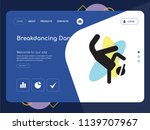 quality one page breakdancing...   Shutterstock .eps vector #1139707967