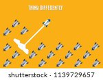think differently   being...   Shutterstock .eps vector #1139729657