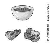 vegetarian dish monochrome...   Shutterstock .eps vector #1139837027