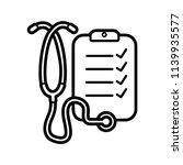 stethoscope line art icon...   Shutterstock .eps vector #1139935577