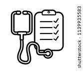 stethoscope line art icon...   Shutterstock .eps vector #1139935583