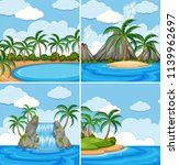 a set of nature seascape... | Shutterstock .eps vector #1139962697