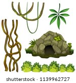 a set of nature cave... | Shutterstock .eps vector #1139962727