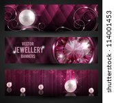 jewellery banners set | Shutterstock .eps vector #114001453