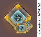 doodle bisquit cookie or...   Shutterstock .eps vector #1140041843