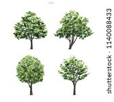 collection of tree isolated on... | Shutterstock .eps vector #1140088433