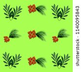green palm leaves pattern for... | Shutterstock . vector #1140095843
