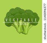 fresh tasty green fresh broccoli   Shutterstock .eps vector #1140096377