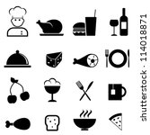 Restaurant and food icon set - stock vector