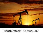 oil pump oil rig energy... | Shutterstock . vector #114028207