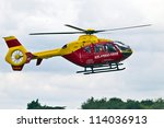 Small photo of BENSON, UK - AUGUST 23:The Chilterns air ambulance lands at Benson airfield on August 23, 2012 in Benson. The AAS is the busiest voluntary emergency service in the UK with average costs of £165K pm