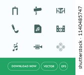 modern  simple vector icon set... | Shutterstock .eps vector #1140485747