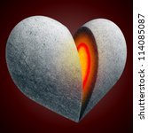 Stone Heart With Warm Core....