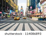 new york city   june 28  taxi... | Shutterstock . vector #114086893