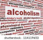 alcoholism medical poster... | Shutterstock . vector #114119653