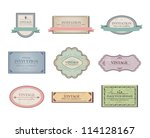 set of retro ribbons and labels.... | Shutterstock .eps vector #114128167