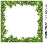 christmas blank frame   Shutterstock . vector #114129013