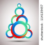 abstract christmas tree   Shutterstock .eps vector #114135457