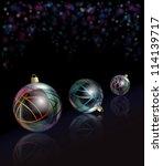 Three Elegant Glass Christmas...