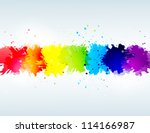 Bright Background With Rainbow...