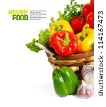 healthy vegetables isolated | Shutterstock . vector #114167473