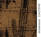 Brown Grunge Background With...