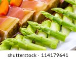 Asparagus, - stock photo