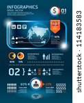 infographics set and... | Shutterstock .eps vector #114183583