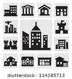 houses icons | Shutterstock .eps vector #114185713