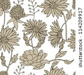floral seamless pattern | Shutterstock .eps vector #114209917