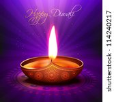 beautiful glowing vector diwali ... | Shutterstock .eps vector #114240217