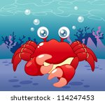 illustration of cartoon crab... | Shutterstock .eps vector #114247453