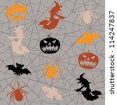 cartoon halloween seamless... | Shutterstock .eps vector #114247837