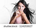 girl in underwear | Shutterstock . vector #114253027