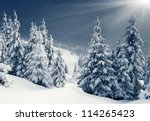 Beautiful Winter Panorama With...