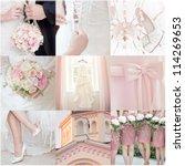 collage of nine wedding photos | Shutterstock . vector #114269653