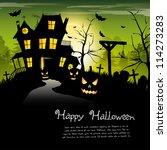 creepy castle   halloween... | Shutterstock .eps vector #114273283